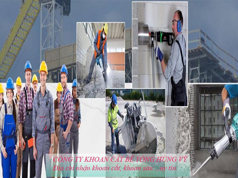 Công ty Khoan cắt bê tông Hùng Vỹ chất lượng uy tín