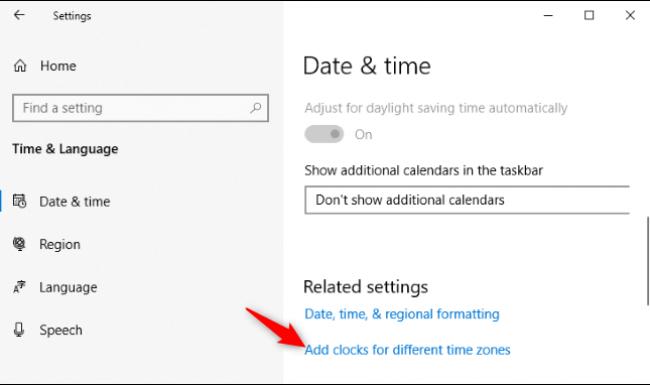 Cách để thấy nhiều khung giờ trên thanh công cụ trong Windows 10