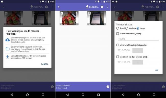 Hướng dẫn cách phục hồi ảnh vừa xóa trên Android