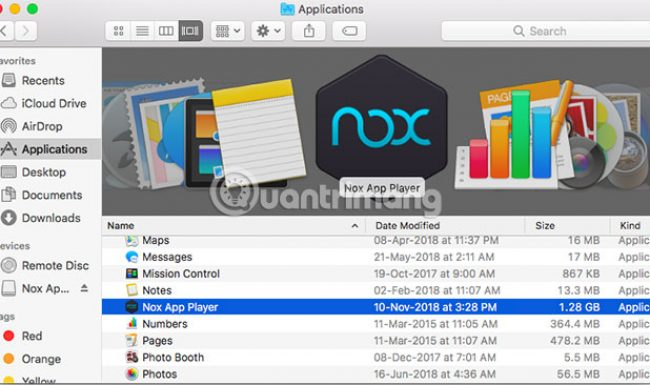 Cách chơi game Android trên Mac với Nox