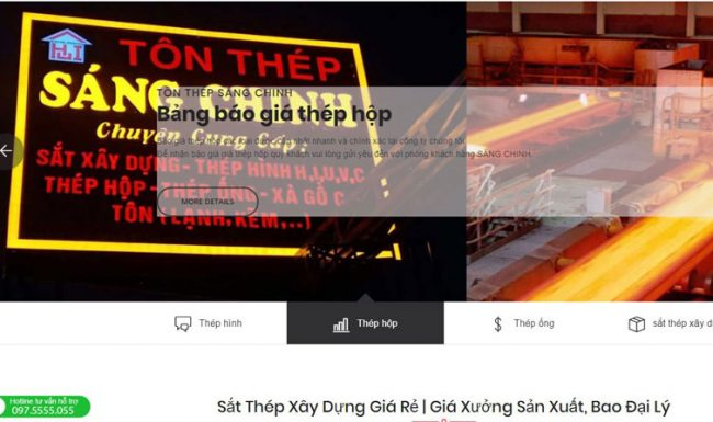 Giới thiệu công ty Tôn thép Sáng Chinh